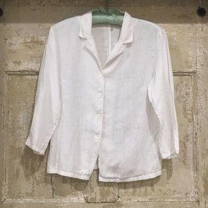 BANANA REPUBLIC Small 100% Linen Small Button Up